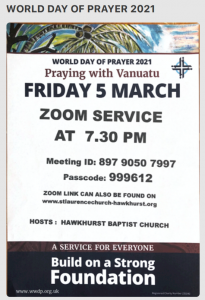 World Day of Prayer Online Service @ Zoom